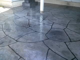Grand Flagstone Stamped Concrete   Superior Concrete Tech