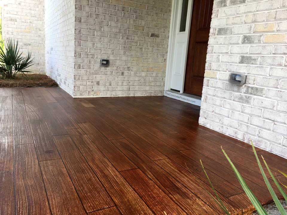 Rustic Concrete Wood | Decorative Concrete Resurfacing | Baton Rouge Louisiana